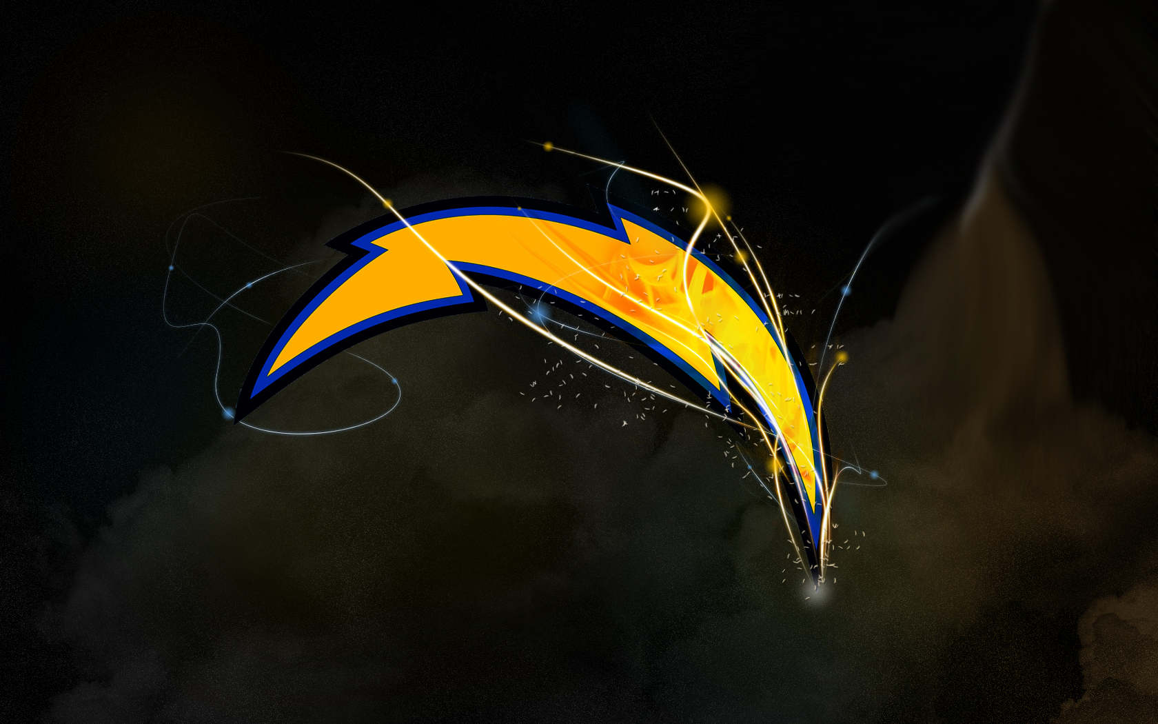 Chargers Bolt Wallpaper San diego chargers light bolt4 1680x1050