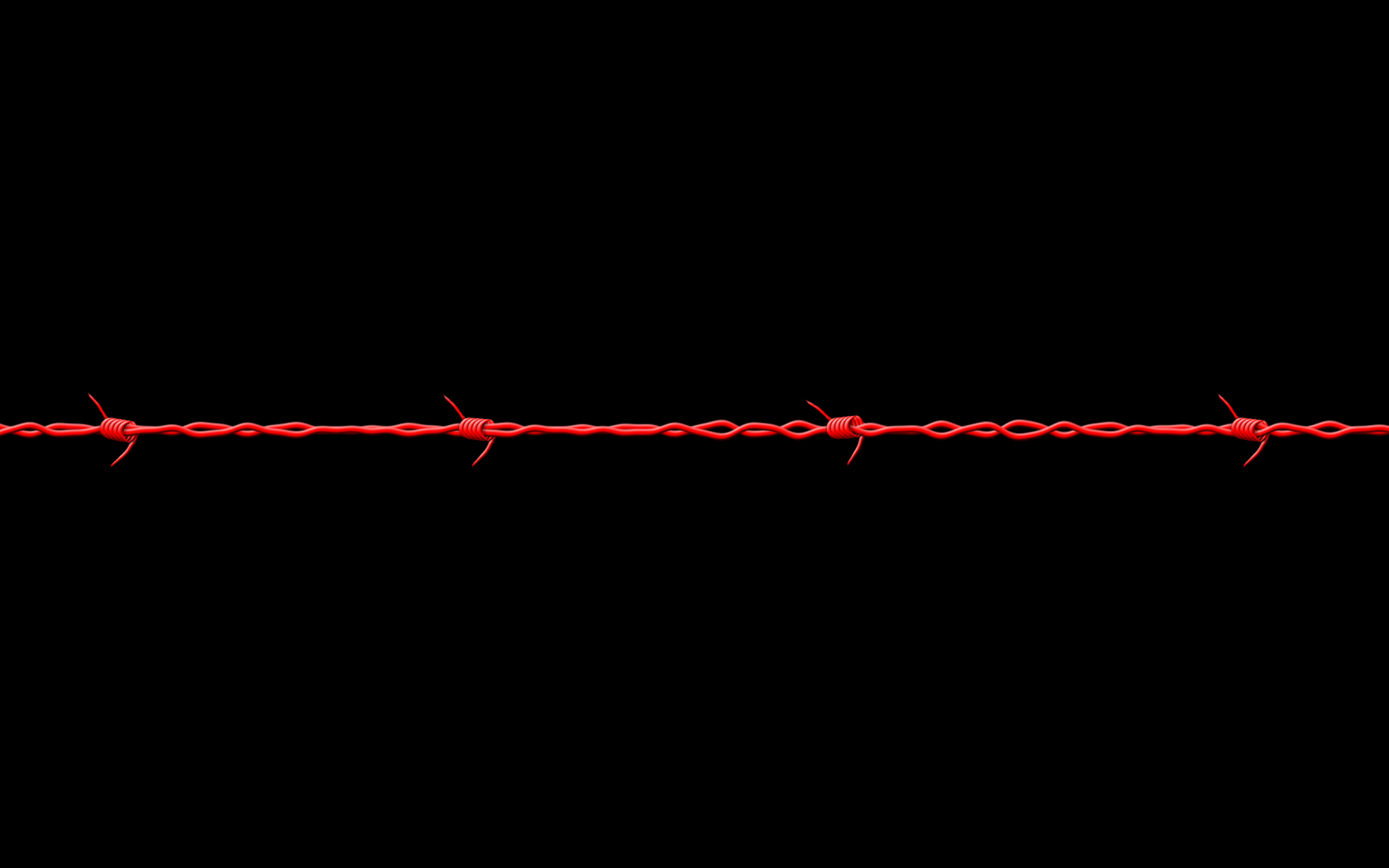 Wallpaper 1 Barbwire Red and Black Wallpapers 2560x1600
