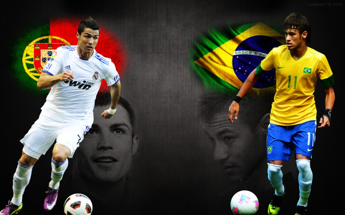 Image result for neymar and ronaldo wallpaper