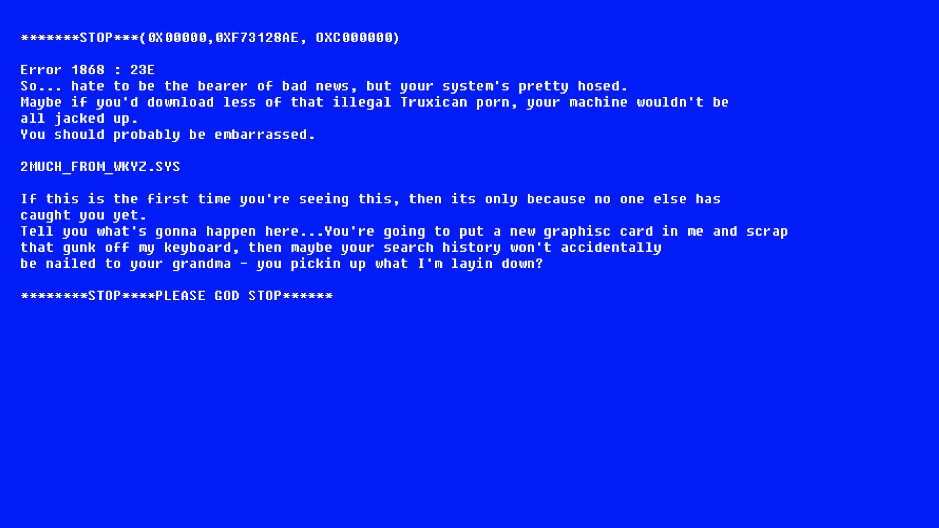 Blue Screen Wallpaper 1920x1080