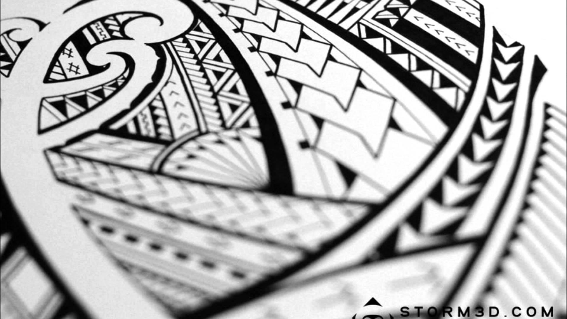 Polynesian Hawaiian Tribal Tattoo Designs