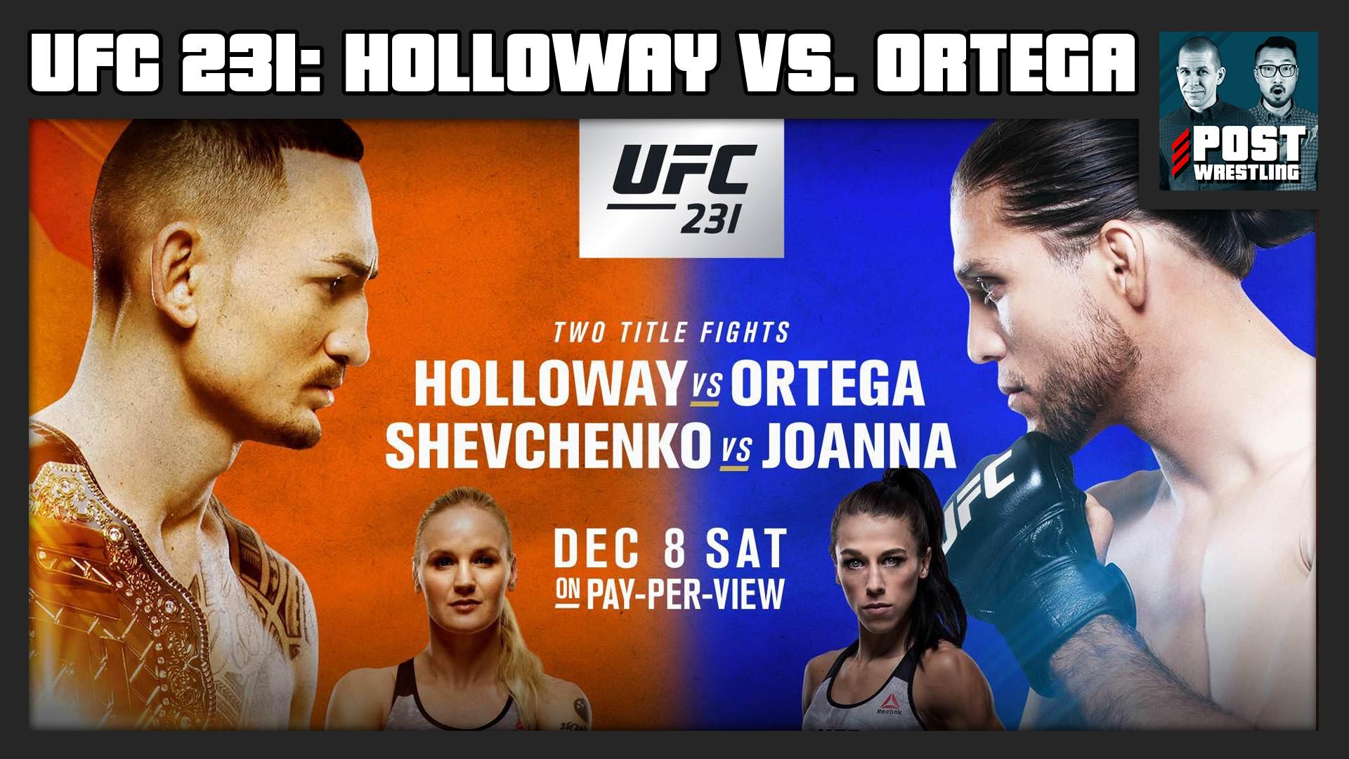 UFC 231 POST Show Max Holloway vs Brian Ortega 1920x1080