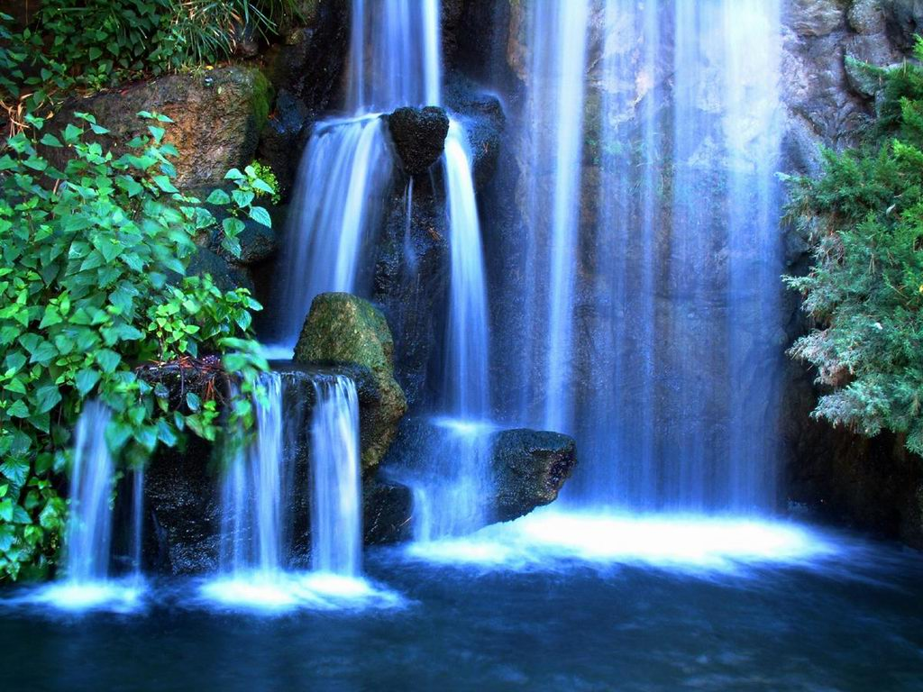 wallpaper Wallpaper Bg Wallpapers Screensavers Tropic Waterfall 1024x768