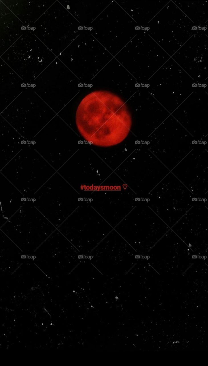 Foapcom Red Moon Wallpaper stock photo by dreamland 730x1280