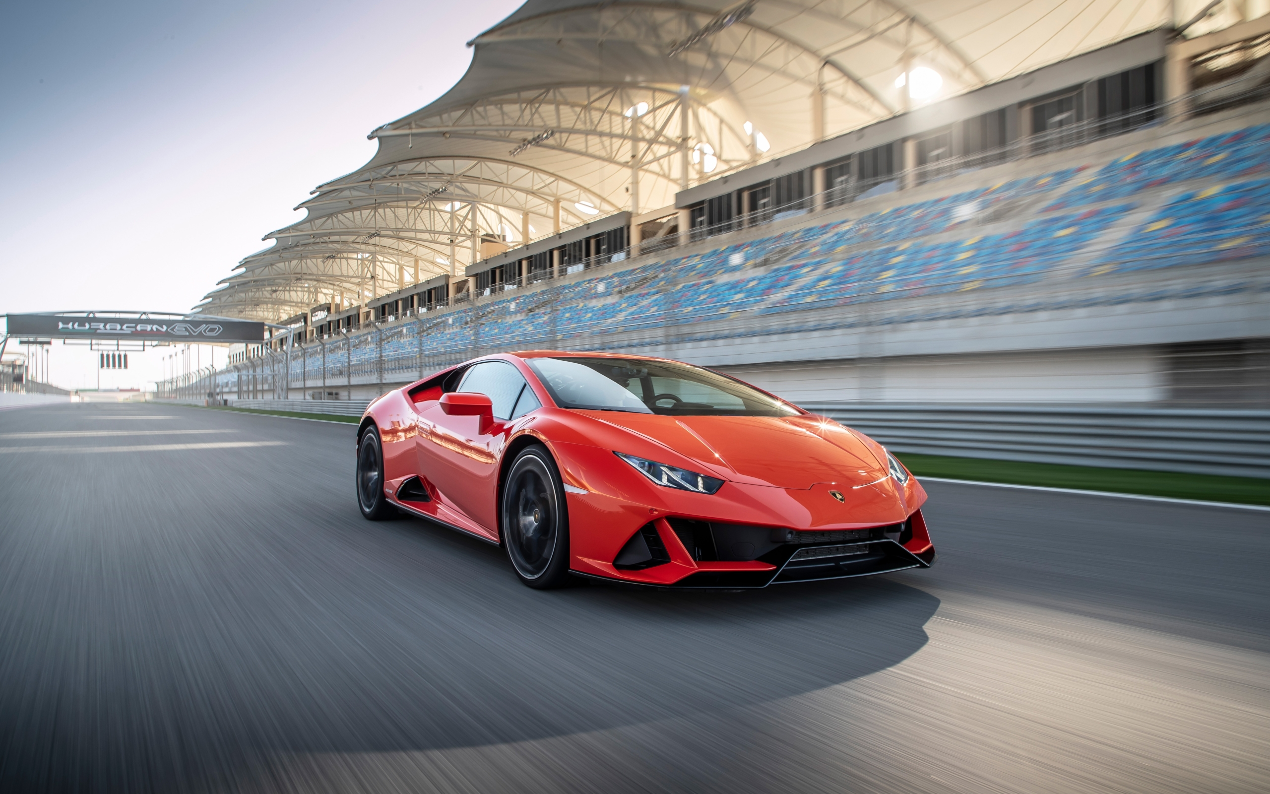 Wallpaper of Car Lamborghini Lamborghini Huracan Evo Red 2560x1600