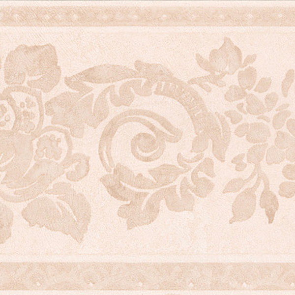 451 1650 Blush Floral Scroll Silhouette   Brewster Wallpaper Borders 600x600