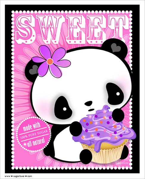 cute kawaii pink panda cupcakejpg phone wallpaper by magicheart53 487x600