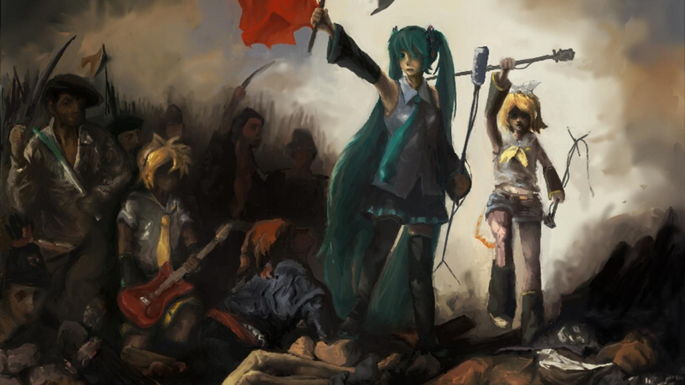Free Download Liberty Leading The People Vocaloid Wallpaper Hq
