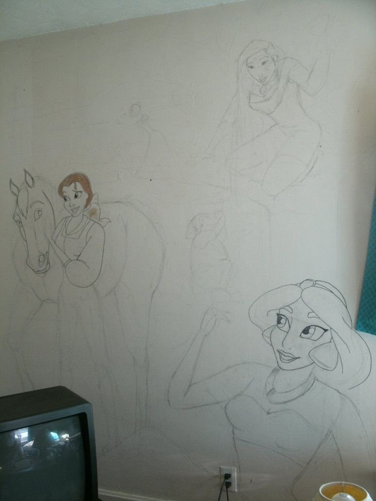 Disney Princess Wall Mural by CowgirlSpirit 774x1032