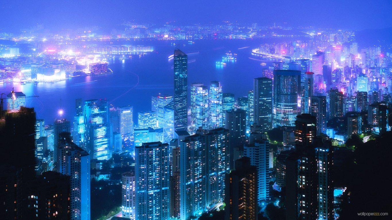 Download Night Tokyo HD Wallpaper Wallpaper 1366x768