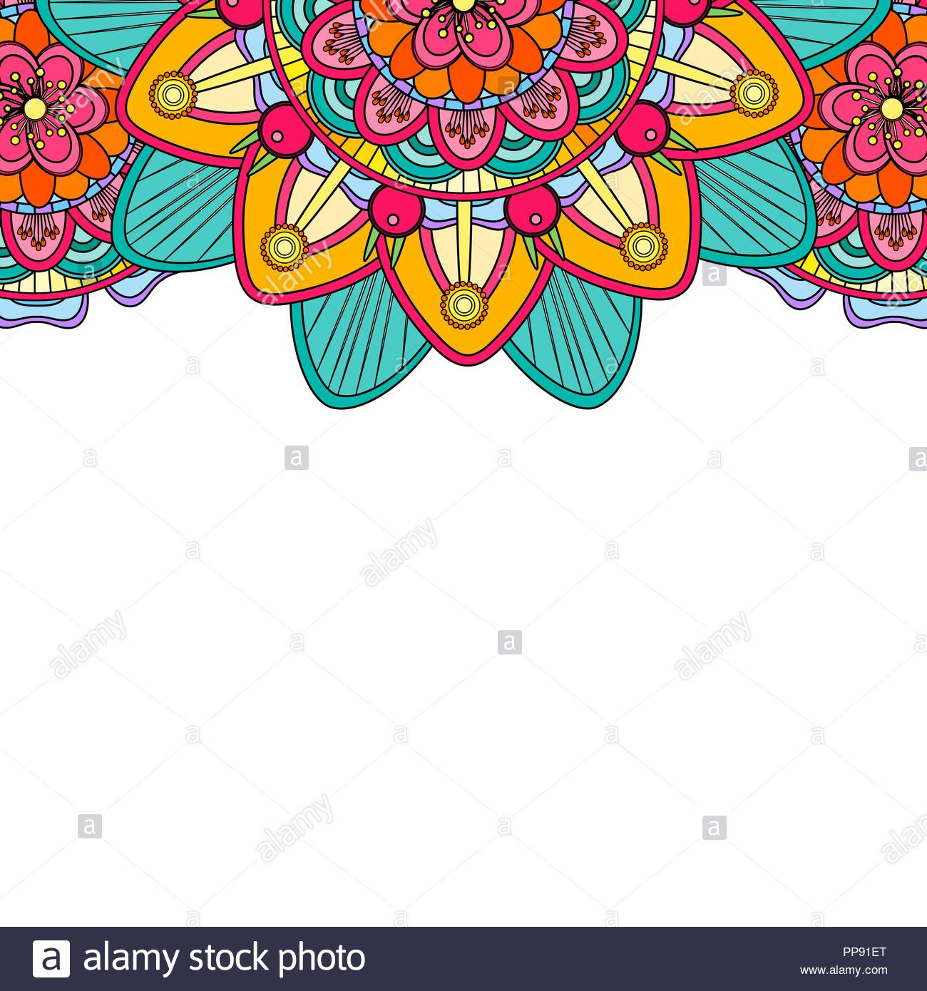 Coloring mandala border isolated on a white background oriental 1300x1390