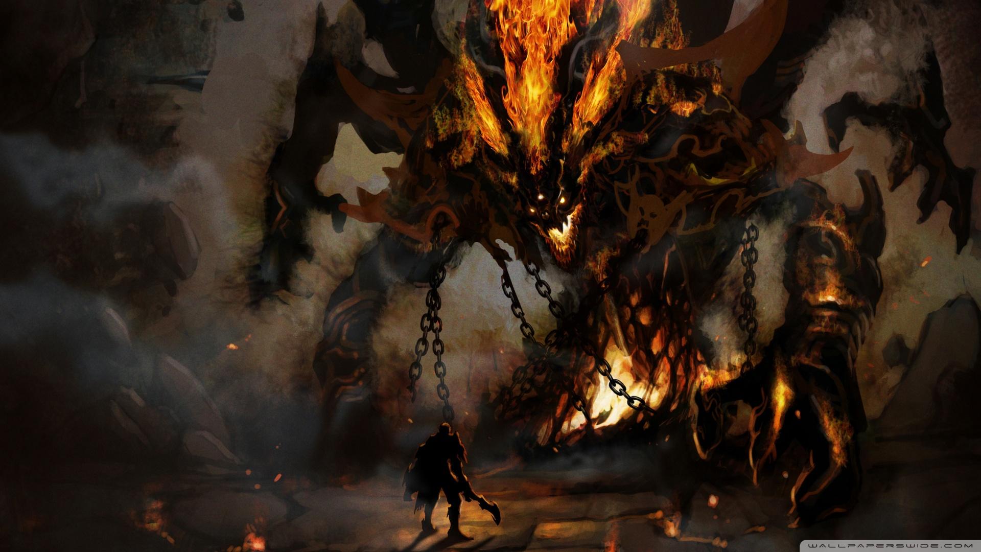 Fire Demon Wallpaper 1920x1080 Fire Demon 1920x1080