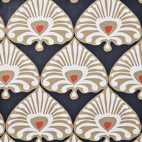 Palmetto Wallpaper Inkwell BlueKhaki 600x600
