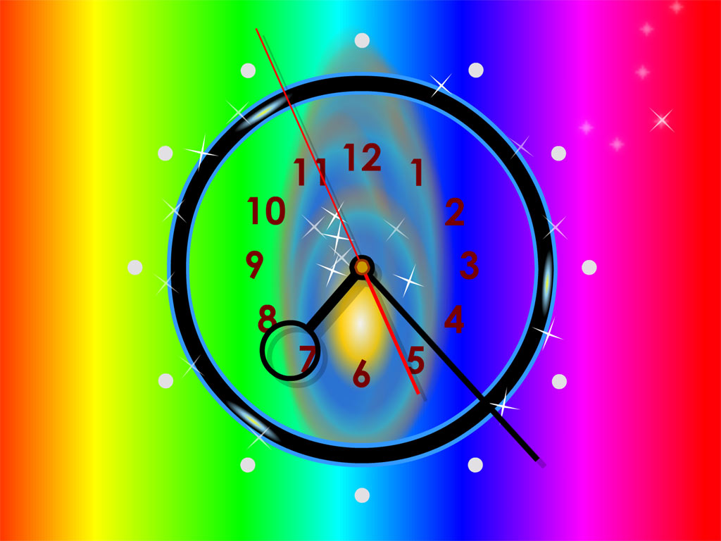 Free download download rainbow clock live wallpaper rainbow