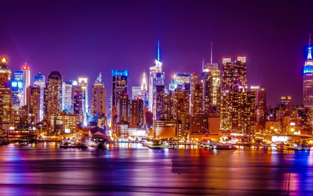 New York City Hudson River Lights wallpapers 620x390