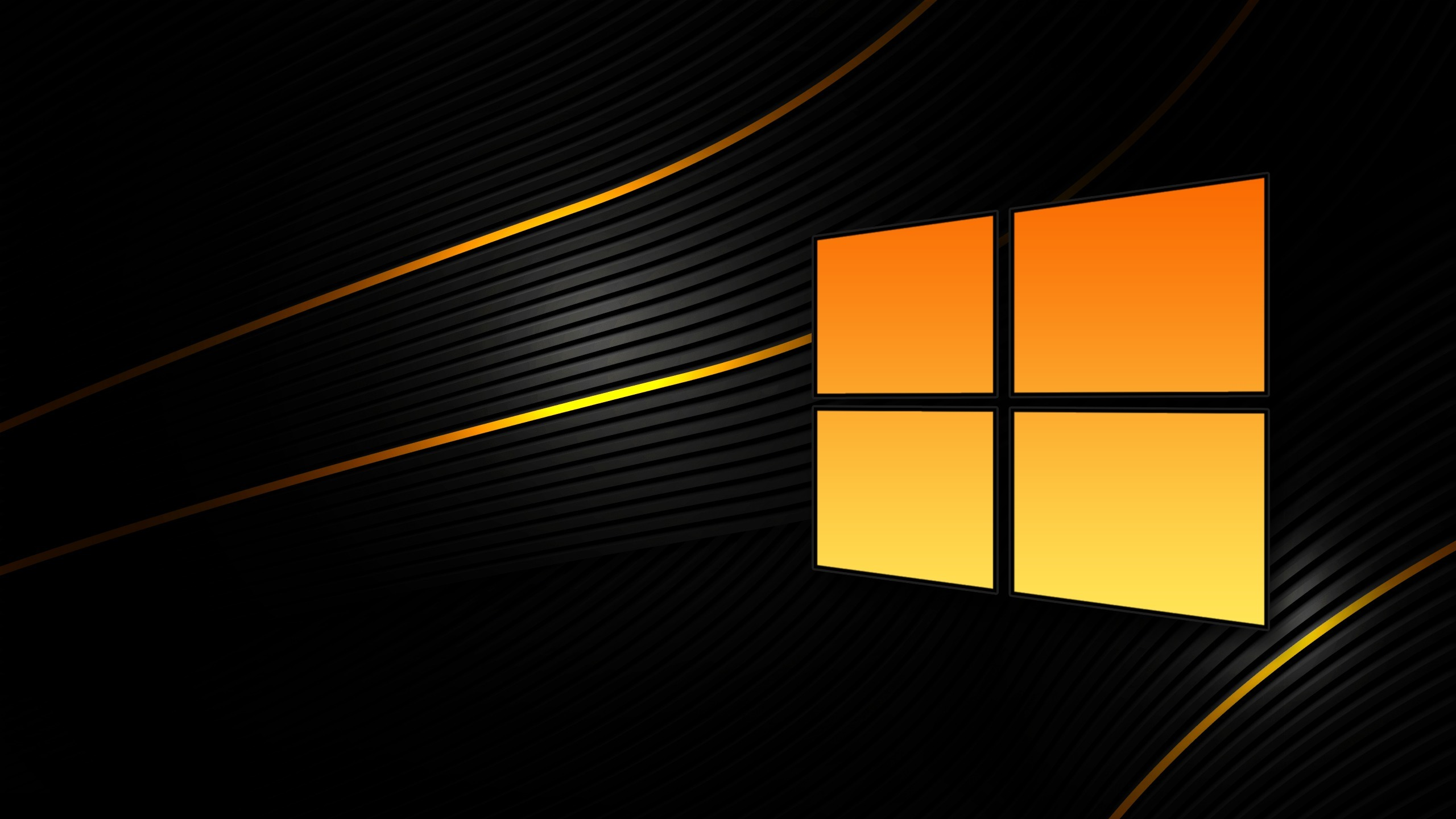 Orange and black Windows 8 Widescreen Wallpaper   15034 2560x1440