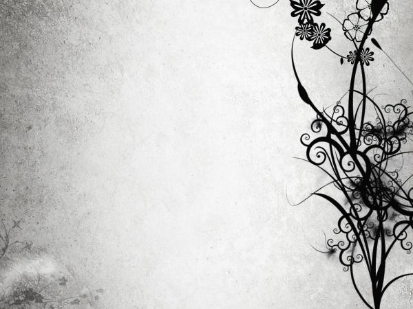 Abstract Black and White Flowers   Wallpaper 162 600x450