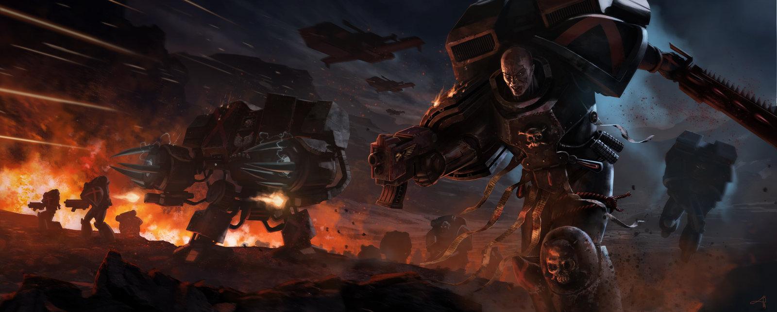Warhammer 40k Death Company Blood Angels Tribute by pierreloyvet on 1600x643