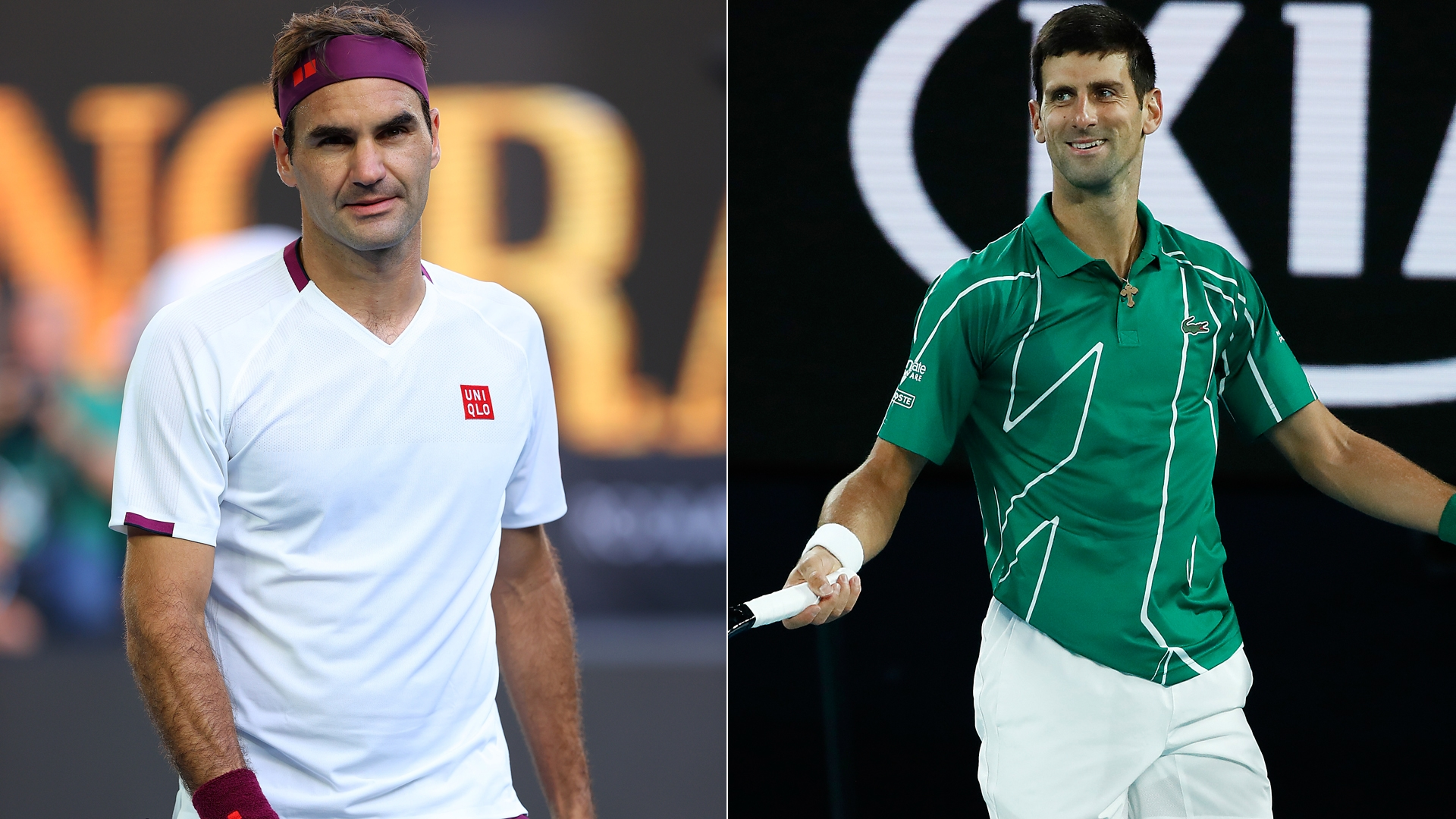 Australian Open 2020 Roger Federer and Novak Djokovic results and 1920x1080