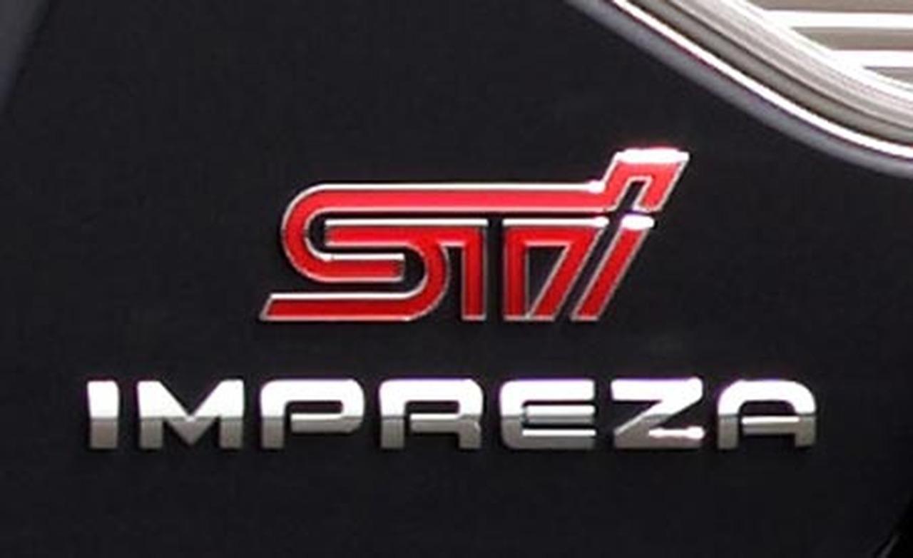2008 Subaru Impreza WRX STI rear badge 1280x782