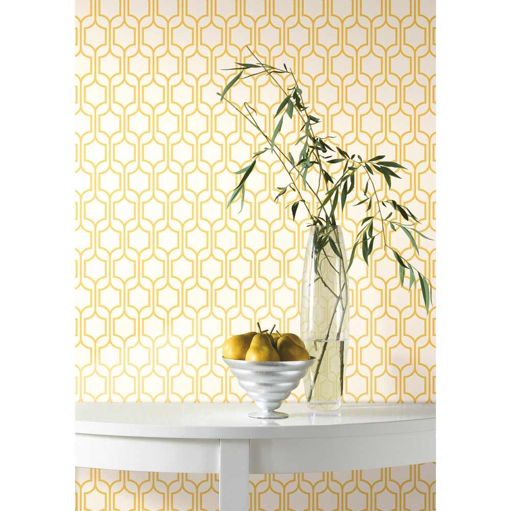 Removable Wall Decals   Trellis Wallpaper   Marigold White I Wall 1000x1000