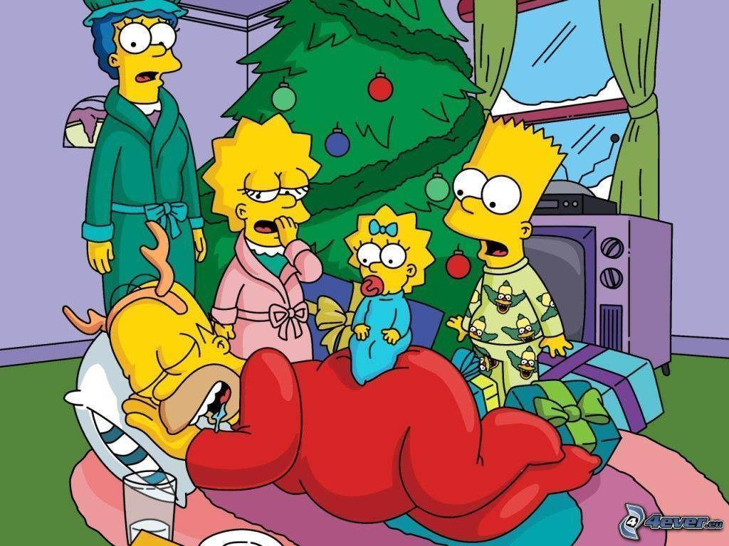 Simpsons Christmas Wallpapers 1024x768