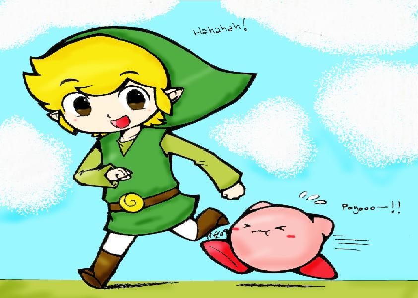 Toon Link Kirby wallpaper   ForWallpapercom 843x600