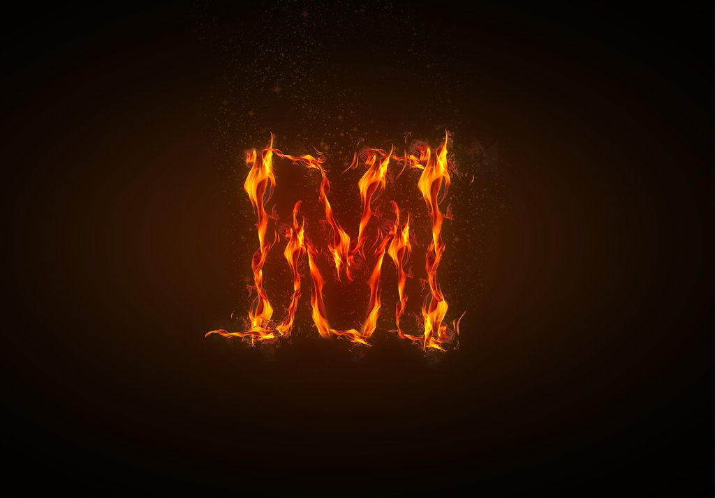 H Letter In Fire Hd Letter M Wallpapers - ...