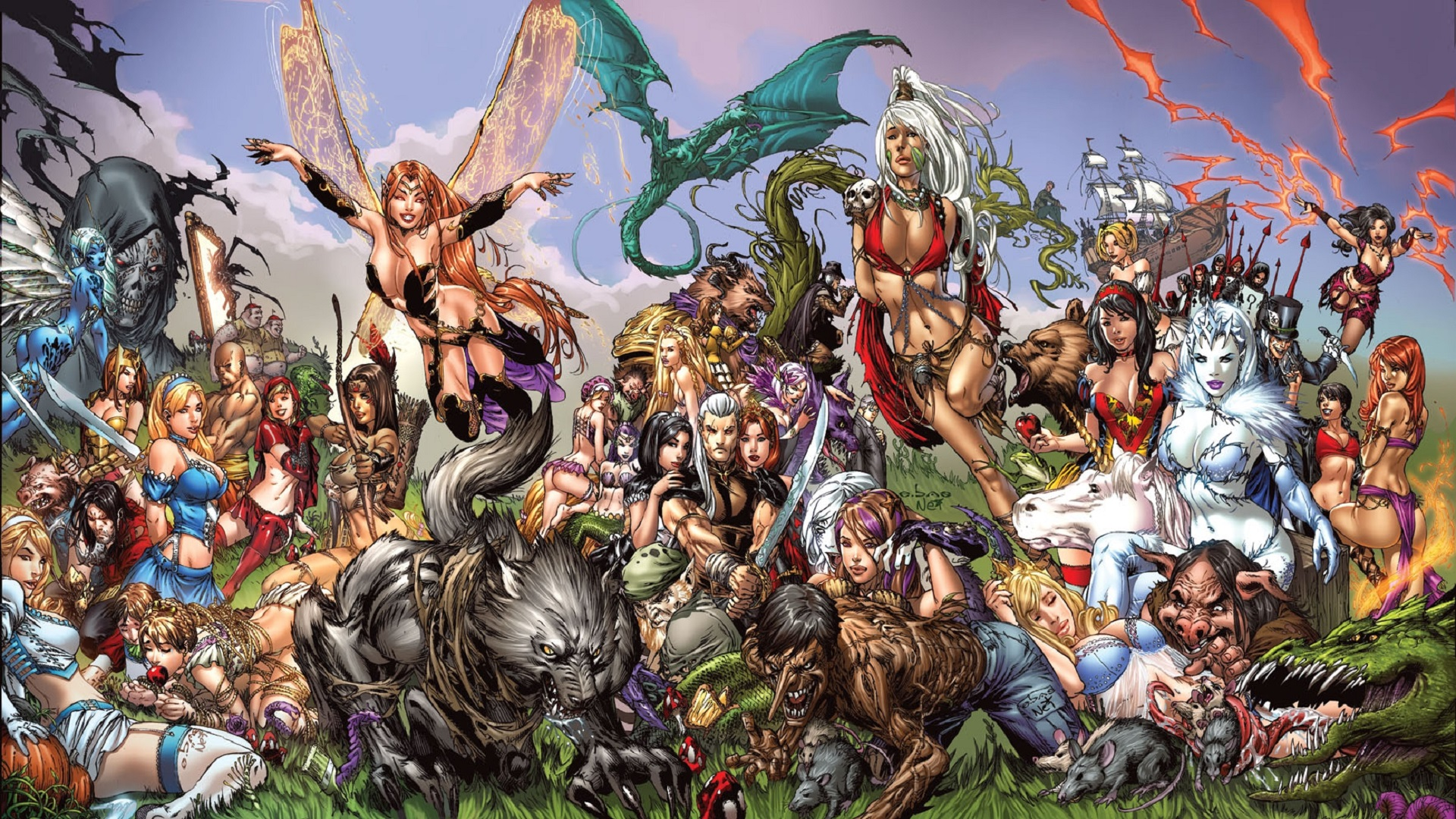 female grimm fairy tales wallpaper - photo #2