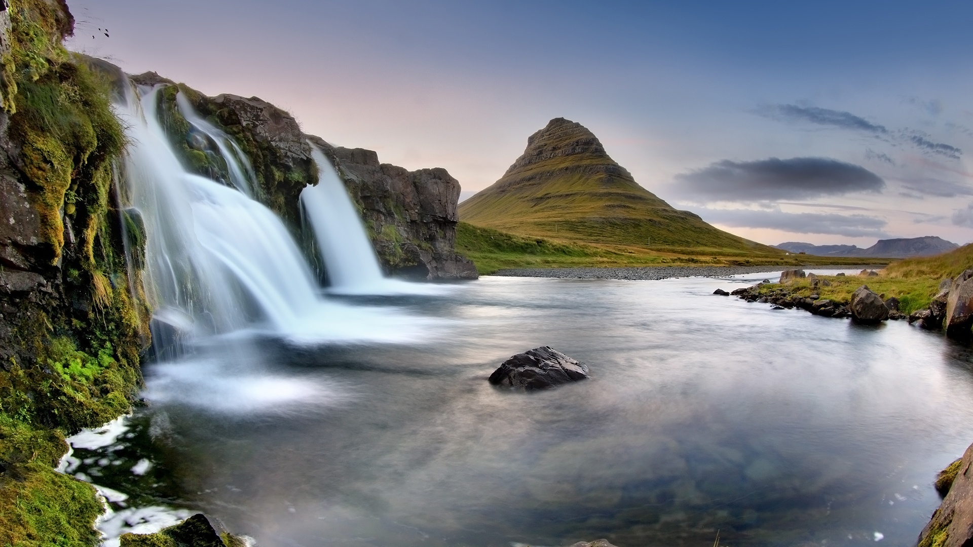 Iceland Eldfell The Volcano Waterfall   High Definition Wallpapers 1920x1080