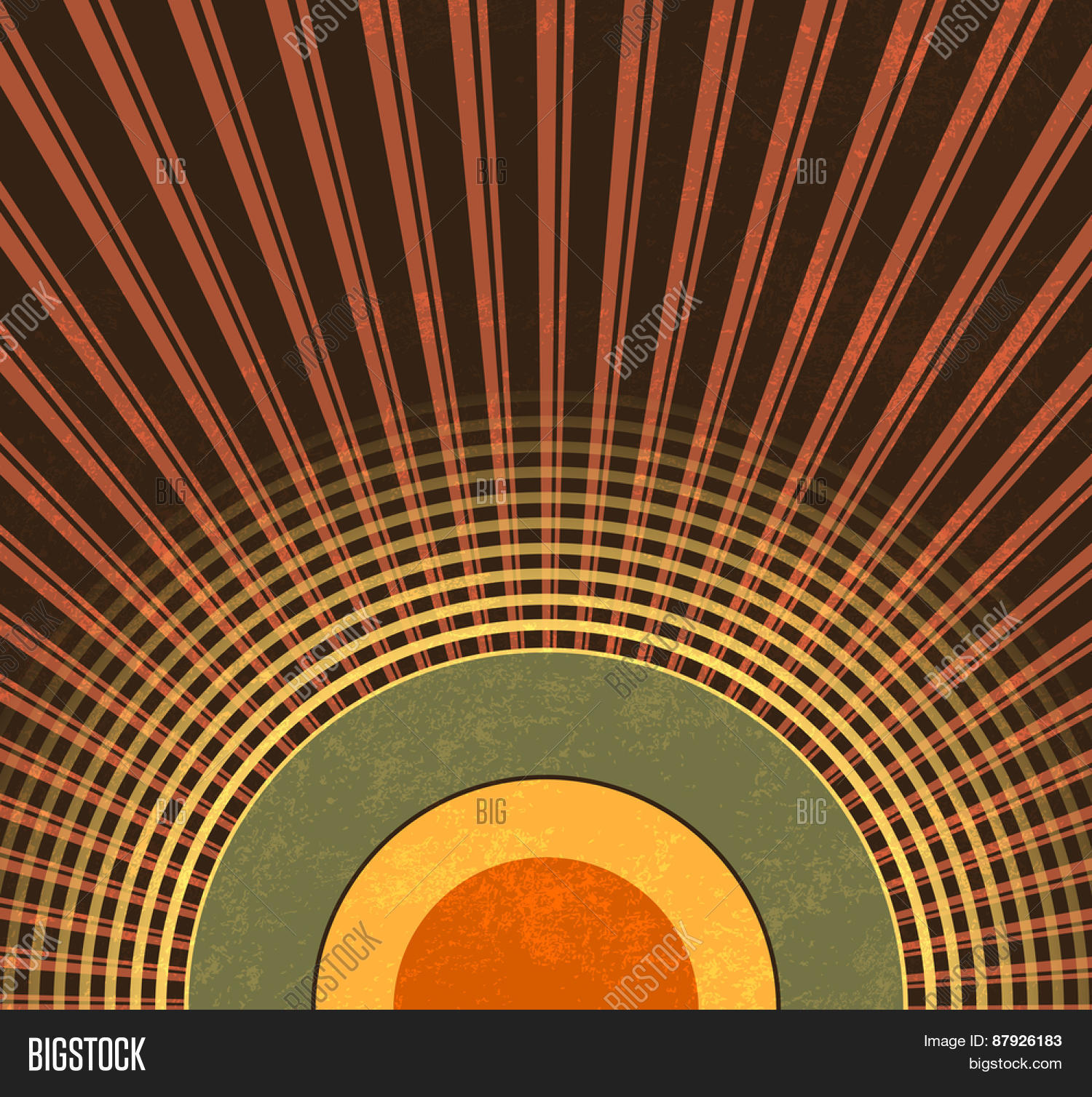 Retro background   abstract grunge radio waves   vintage 1500x1508