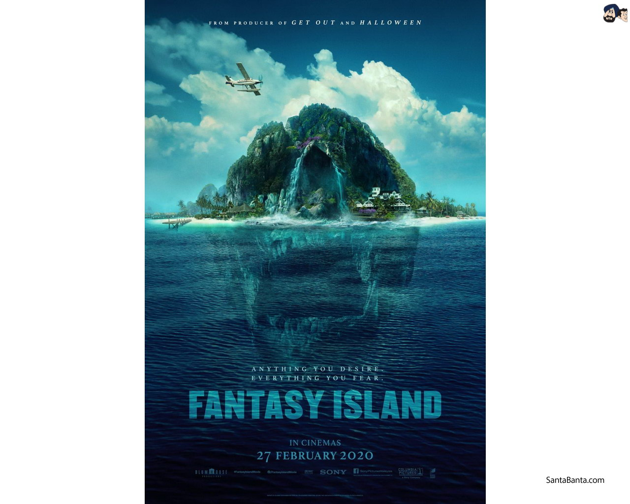 Official poster of Hollywood horror film `Fantasy Island 1280x1024
