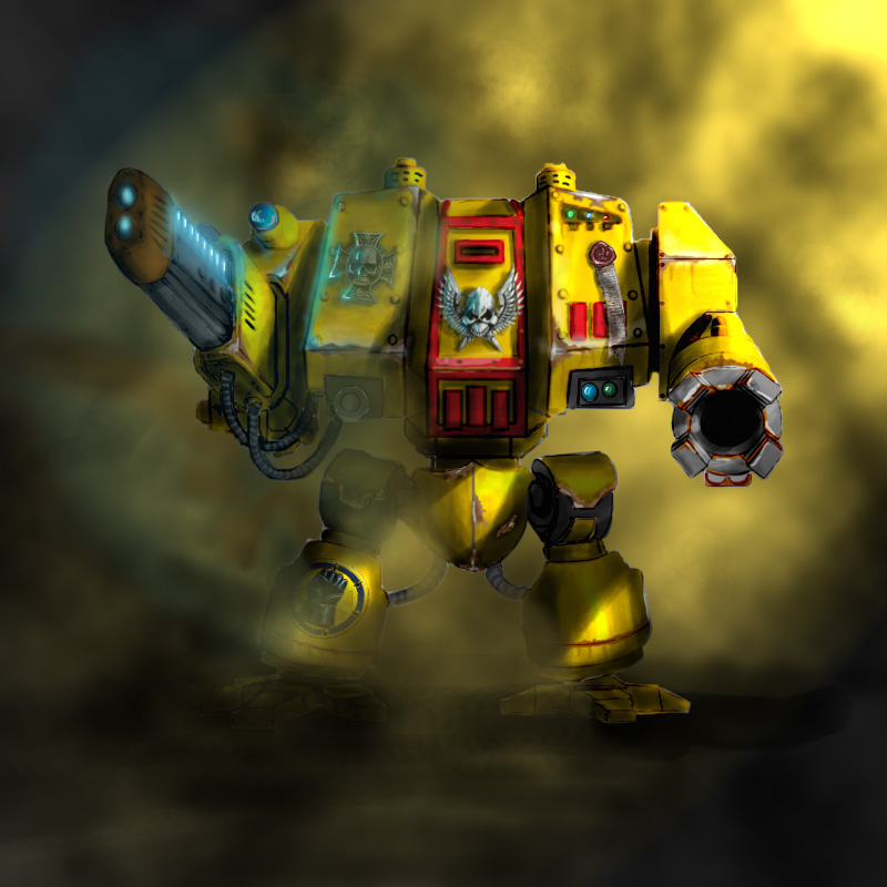 Imperial Fists Dreadnought by Terradok 800x800