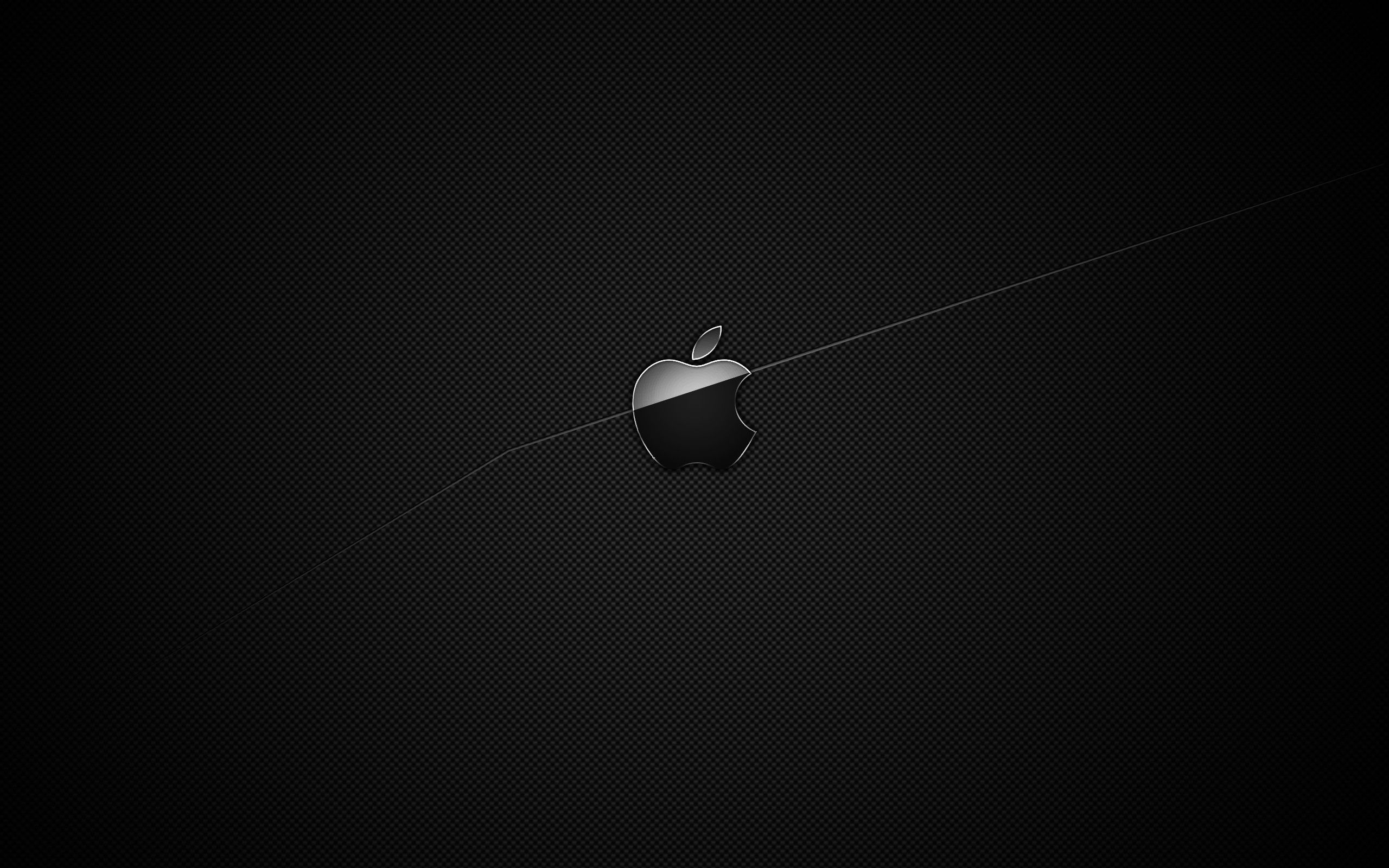 Black And White Apple Wallpaper 2560x1600