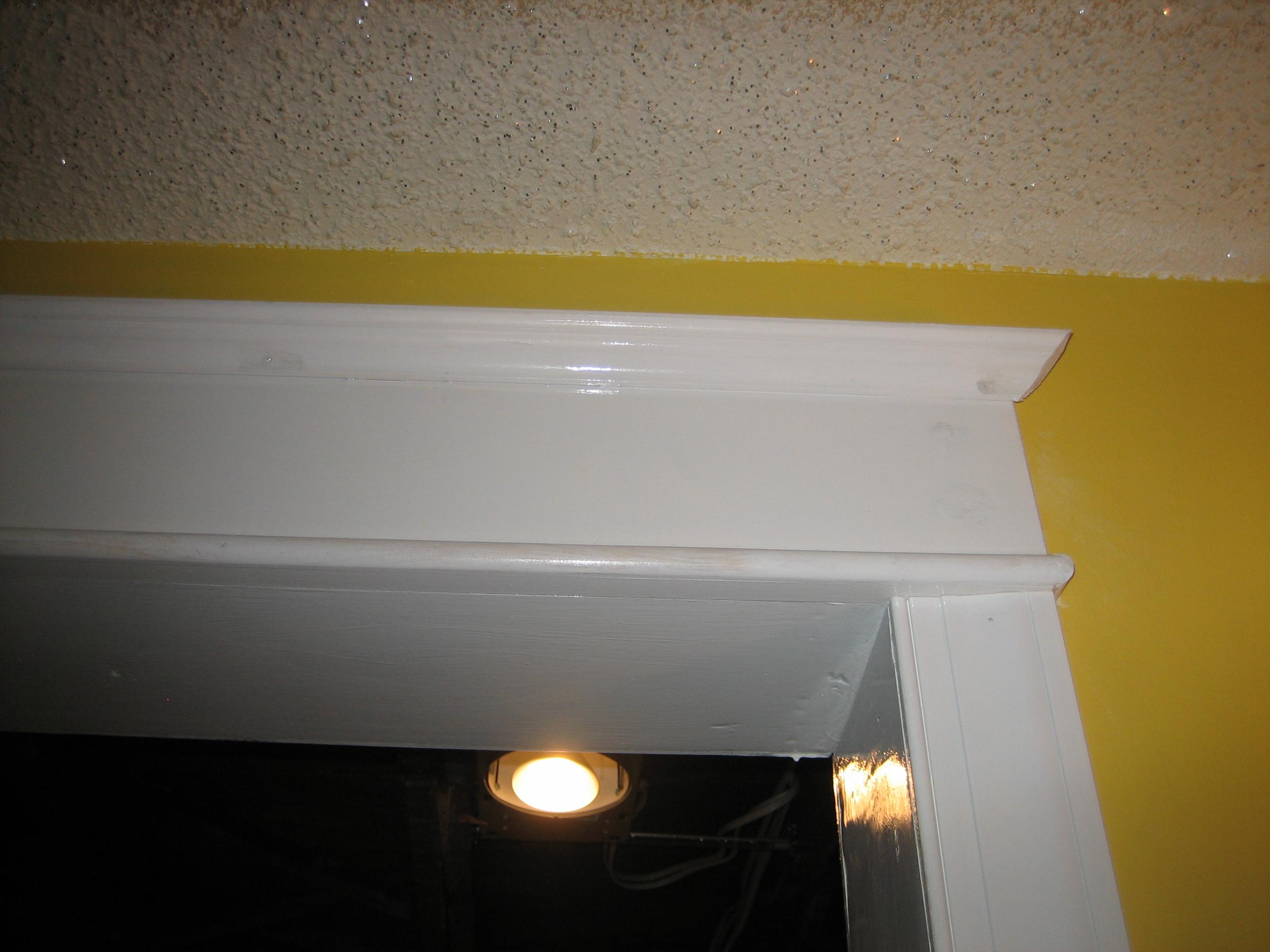 Cherry wood crown molding wallpaper border img 4346 2592x1944