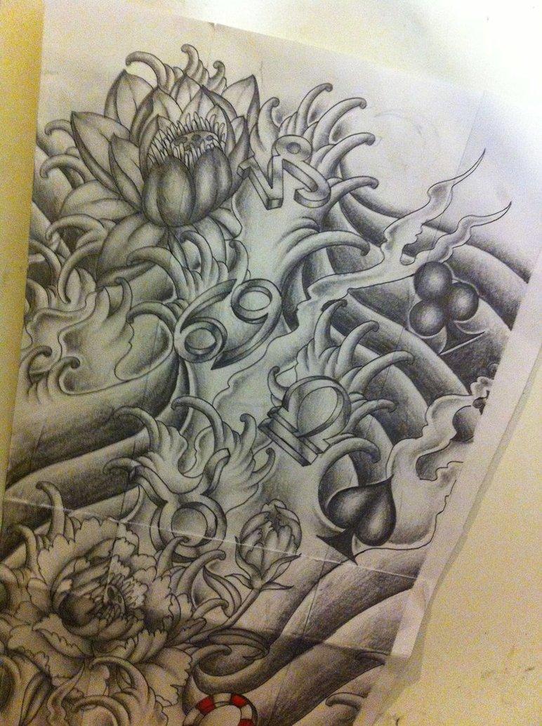 Japanese Tattoo Background Design httpwwwezilikonnencom 772x1034
