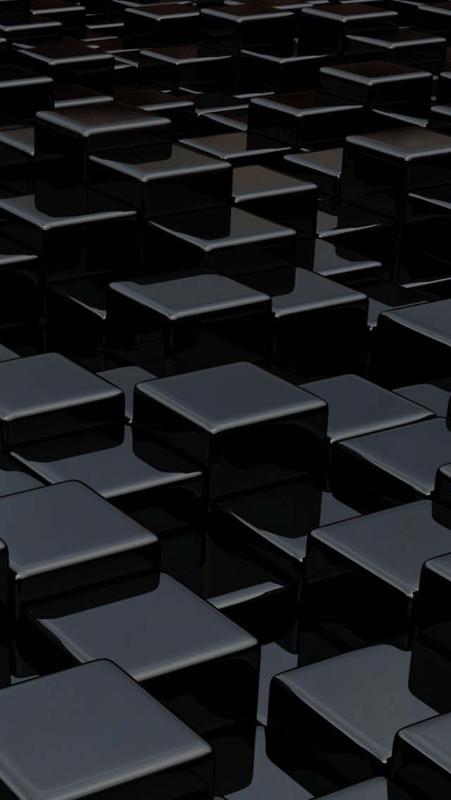 Black cubes 3d iPhone 5s Wallpaper Download iPhone Wallpapers iPad 640x1136