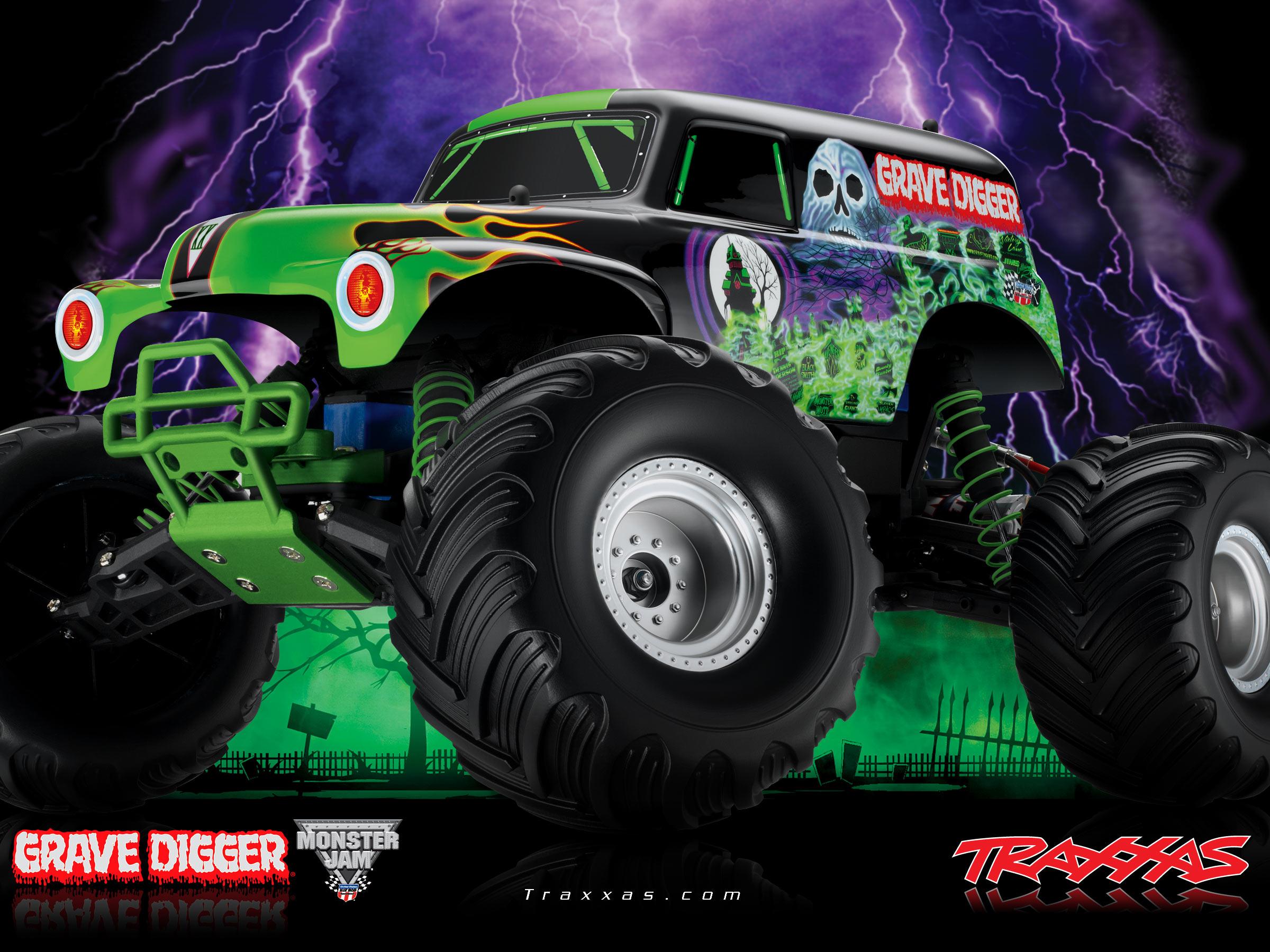 Grave Digger Monster Truck Wallpaper on