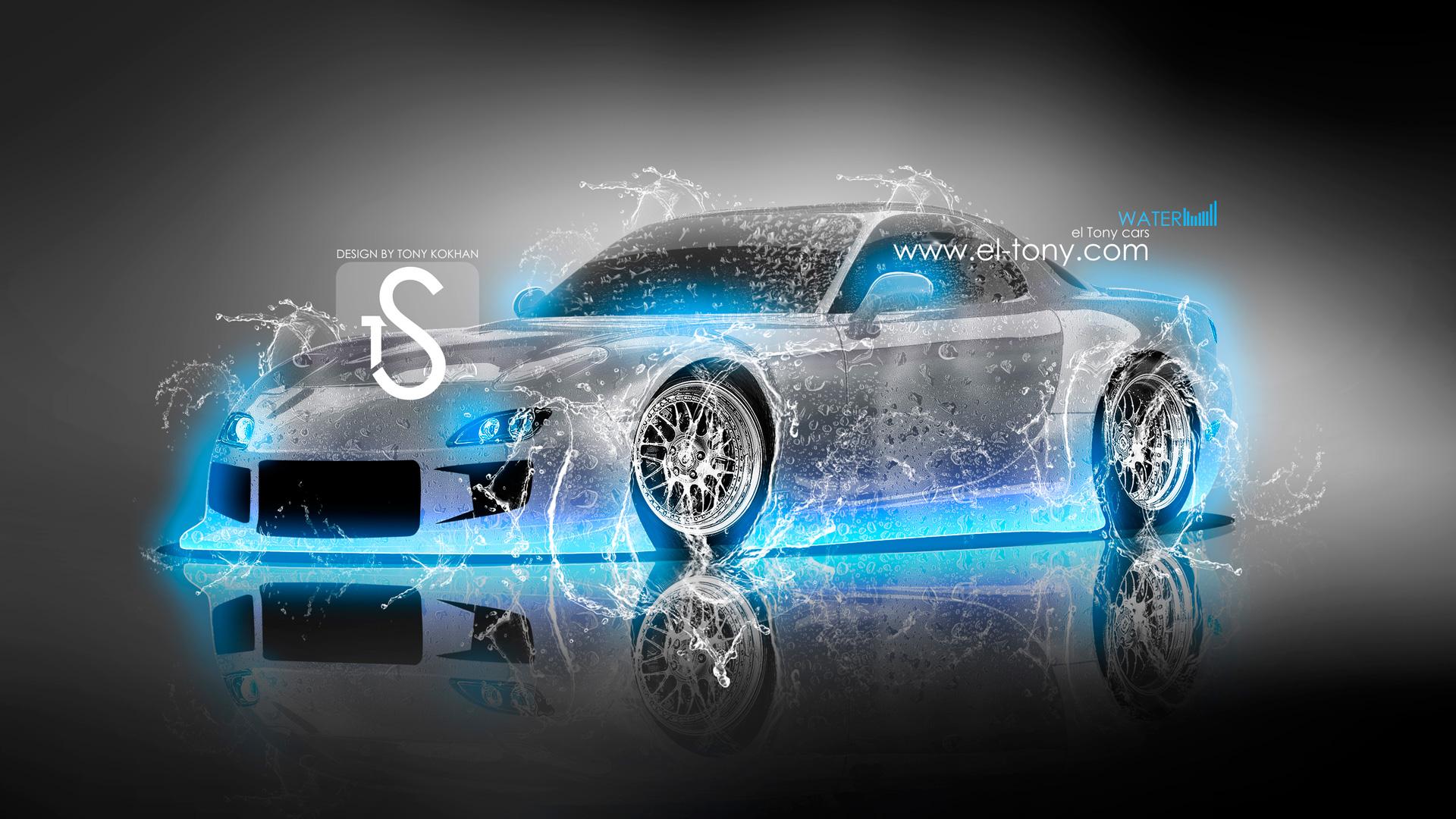 4k Mazda Rx8 Jdm Tuning Back Smoke Car 2015 Mazda Rx7 Jdm Back Water  1920x1080