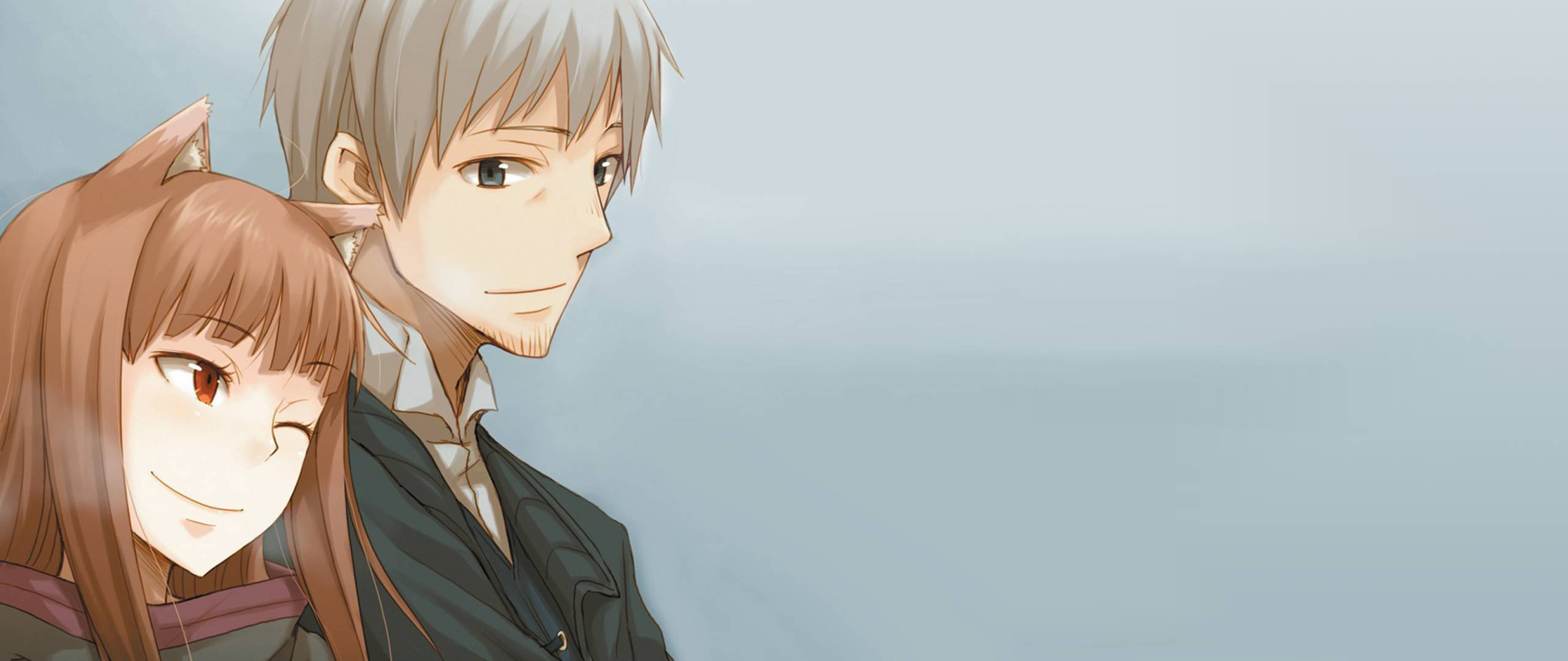 392075 Spice And Wolf Holo Lawrence Inseparablepng 2560x1080
