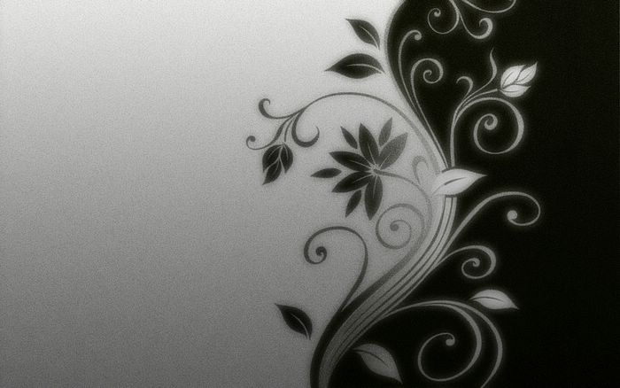 ... Graphic Design by Mucu - Black and White Abstract Flowers Wallpaper 8
