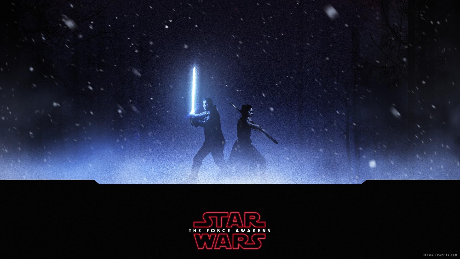 Finn Rey Star Wars The Force Awakens HD Wallpaper   iHD Wallpapers 1920x1080