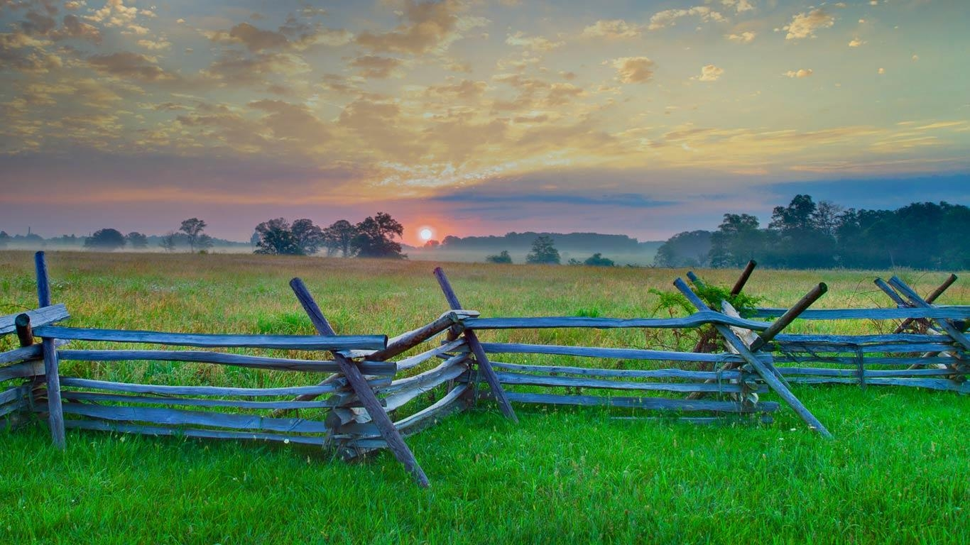 Gettysburg National Military Park Gettysburg Pennsylvania Tetra 1366x768