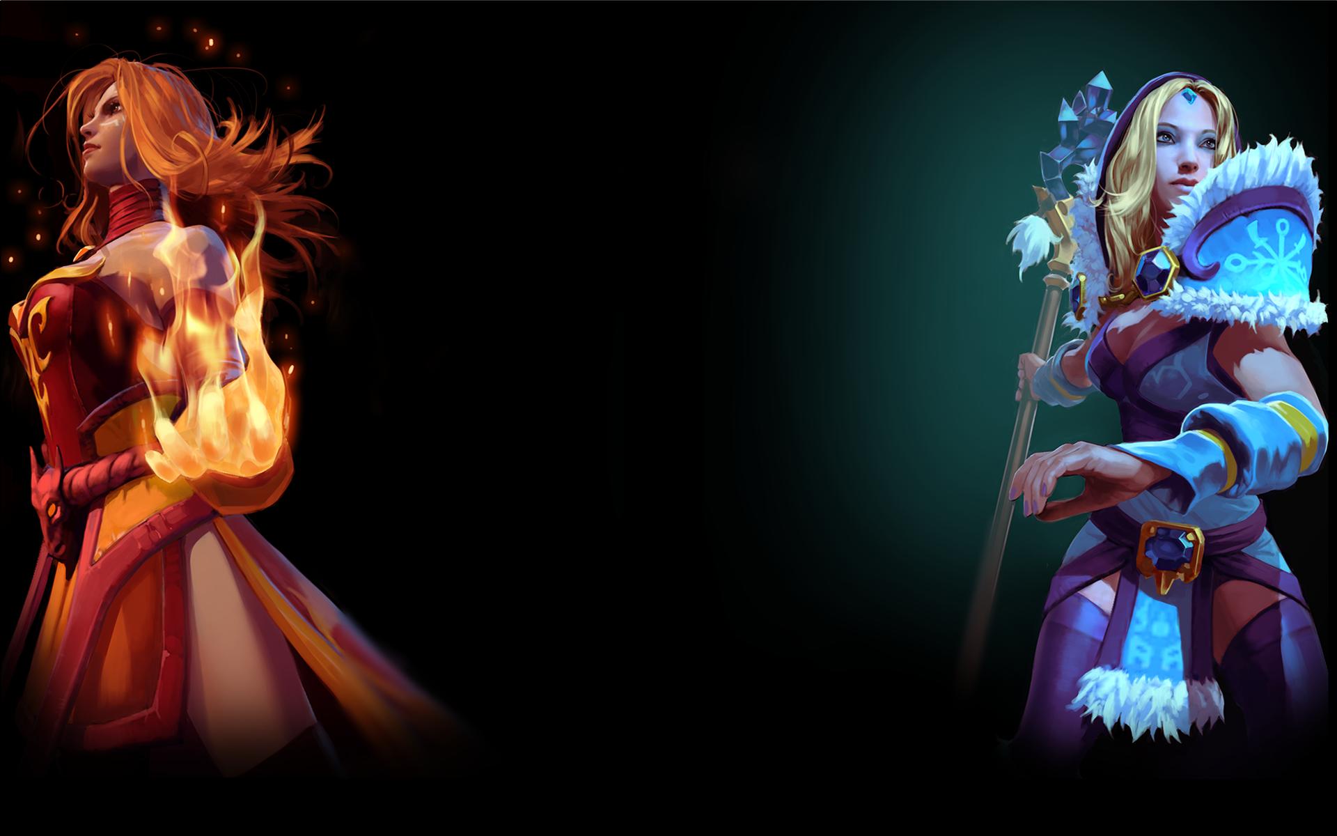 Lina and Crystal Maiden   DotA 2 Wallpaper 4849 1920x1200