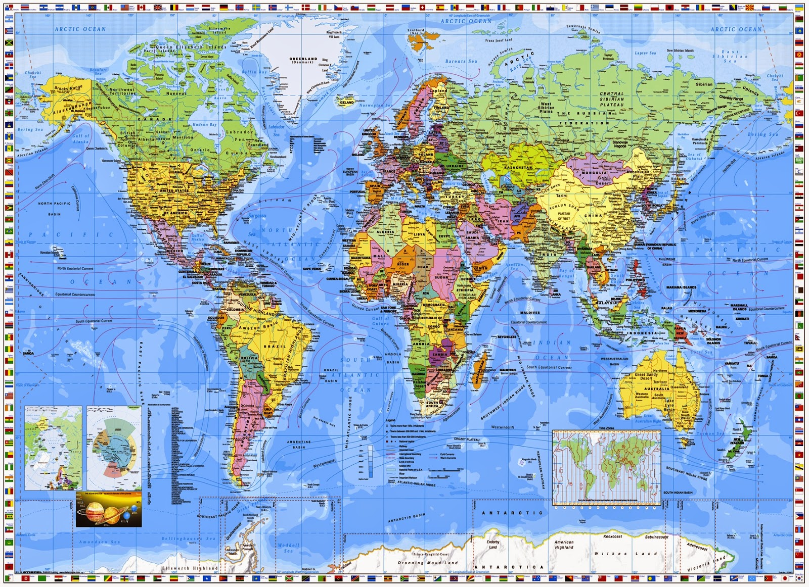 ZUP297 World Map With Countries Wallpapers Awesome World 1600x1162