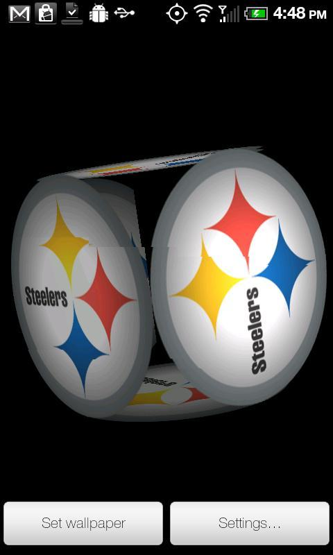 Steelers Live Wallpaper PRO Screenshots 480x800