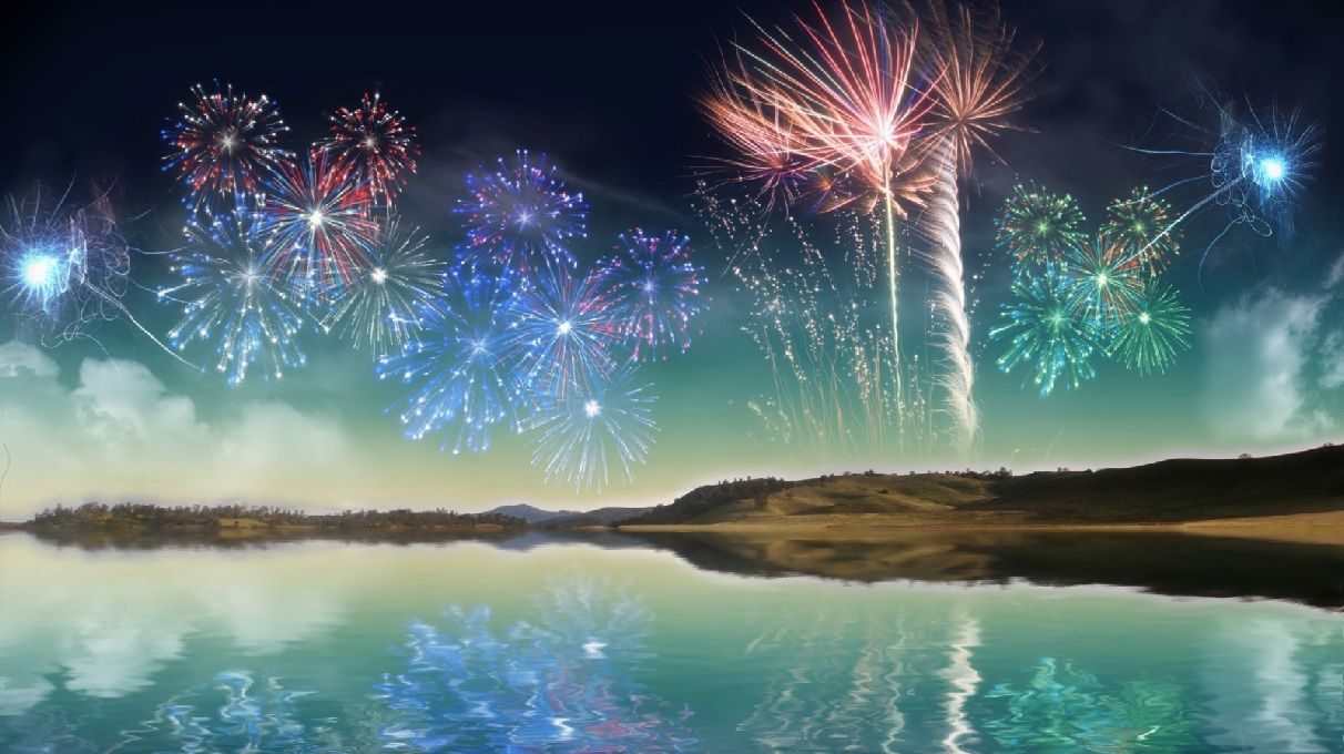 Animated Fireworks Powerful Women Animated Wallpaper Happy new 1212x680