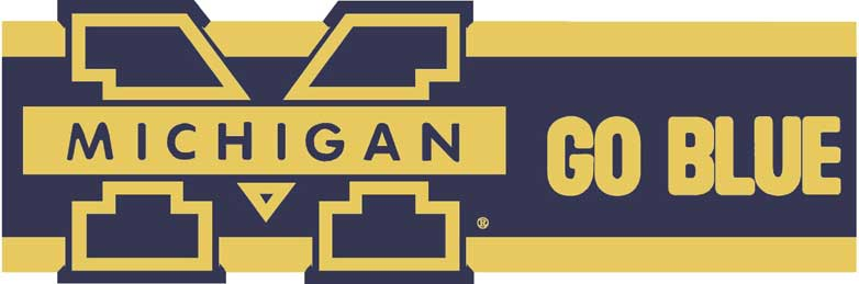 Michigan Wolverines 7 Tall Die Cut Wallpaper Border 782x259