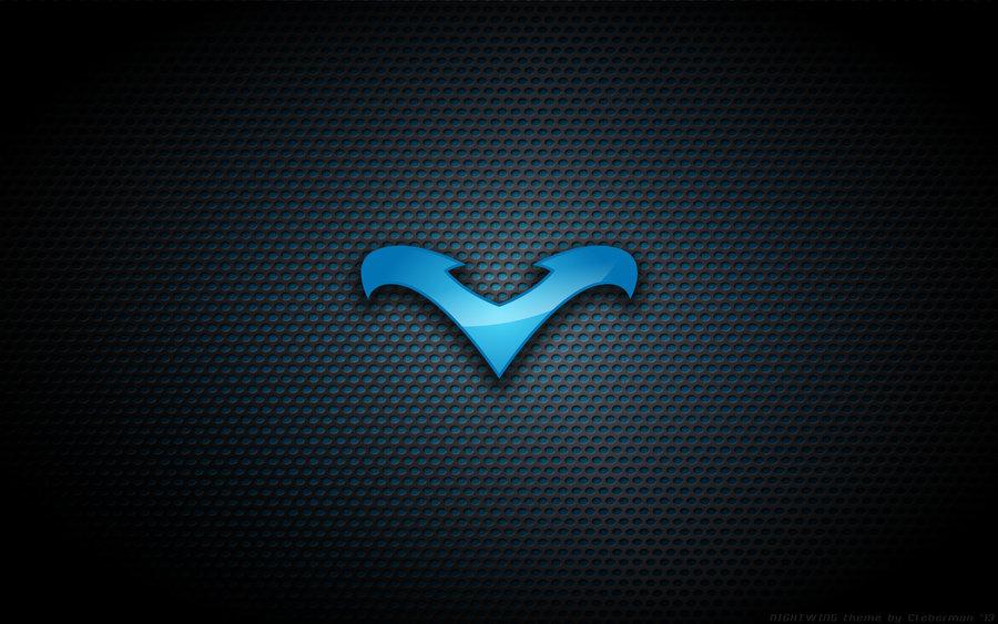 Wallpaper   Nightwing Blue Logo by Kalangozilla 900x563
