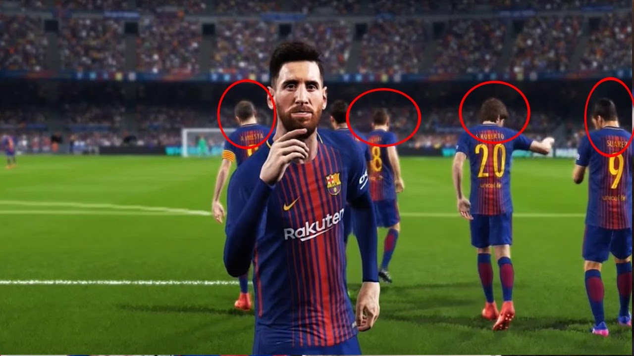 PES 2018 ALL NEW FC BARCELONA PLAYER FACES w MESSI 1280x720